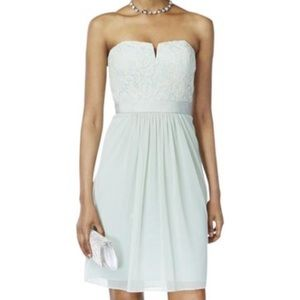 Adrianna Papell strapless lace and chiffon dress